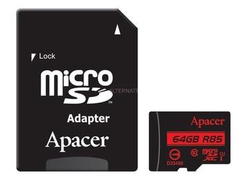 Atmiņas karte Apacer AP64GMCSX10U5-R, 64 GB