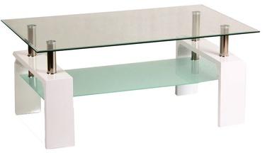 Kafijas galdiņš Signal Meble Lisa Basic White, 1000x450x600 mm