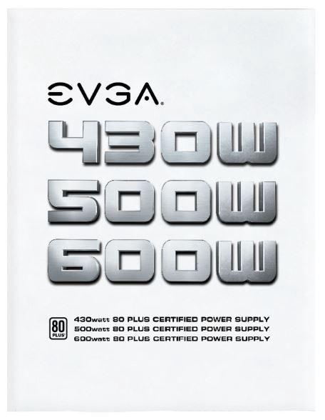 EVGA Power Supply PSU 600W 80 PLUS WHITE