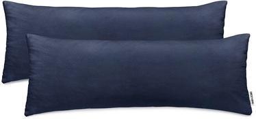 DecoKing Amber Pillowcase 40x145 Navy Blue 2pcs
