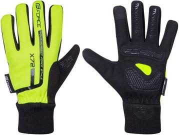 Перчатки Force Kid X72, черный/желтый, L