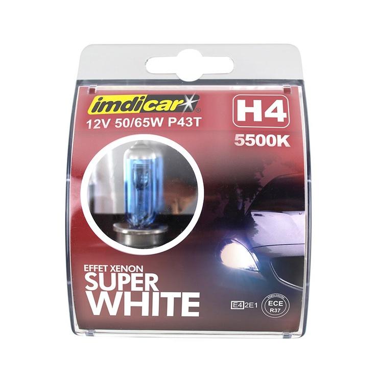Imdicar H4 Effet Xenon Car Bulb Super White 2pcs