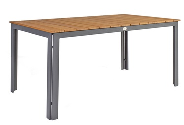 Home4you Greenwood Garden Table 150x90x73cm Dark Grey