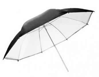 Falcon Eyes Jumbo Umbrella URN-T86TSB1 White+Silver/black 216cm