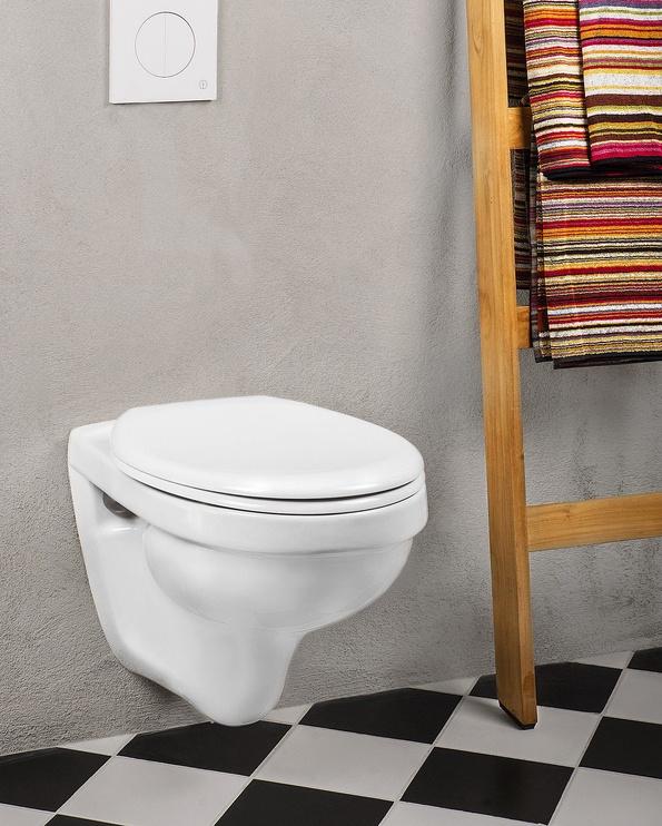 Sienas tualete Gustavsberg Nordic3 GB113530001010, ar vāku, 280 mm x 535 mm