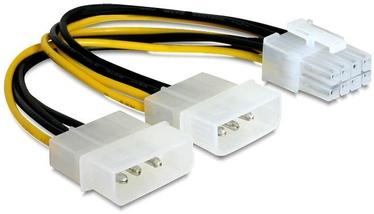 Delock Cable 8pin / Molex x2 0.15m