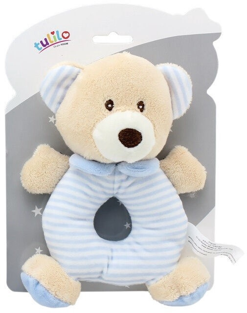 Axiom New Baby Rattle Teddy Bear Blue 17cm