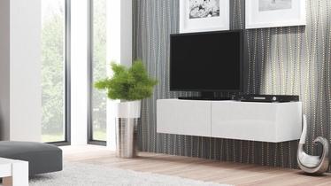 Pakabinama spintelė Livo RTV 160W balta, 160 x 40 x 30 cm