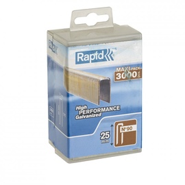Rapid Narrow Crown 90/25mm Staples 3000pcs