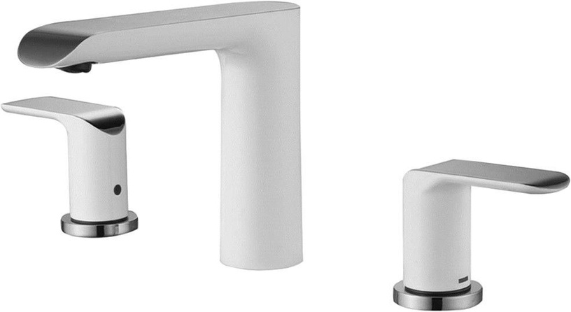 Vento Ravena Built-In Ceramic Sink Faucet White/Chrome