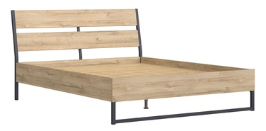 Кровать Black Red White Gamla 160B Grandson Oak, 215x165 см