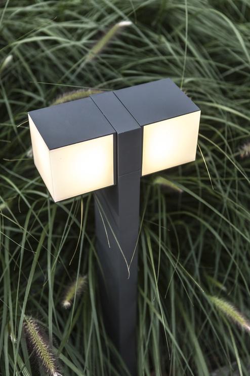 Светильник Lutec Cuba 7193801118, 2x11.5Вт, 3000°К, LED, IP54, aнтрацит