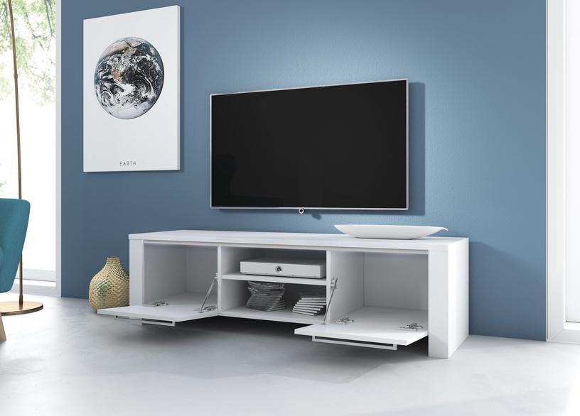 TV galds Vivaldi Meble Manhattan, balta, 1400x422x400 mm