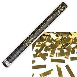 Konfetti Party&Deco Confetti Cannon Gold Stripes 30cm