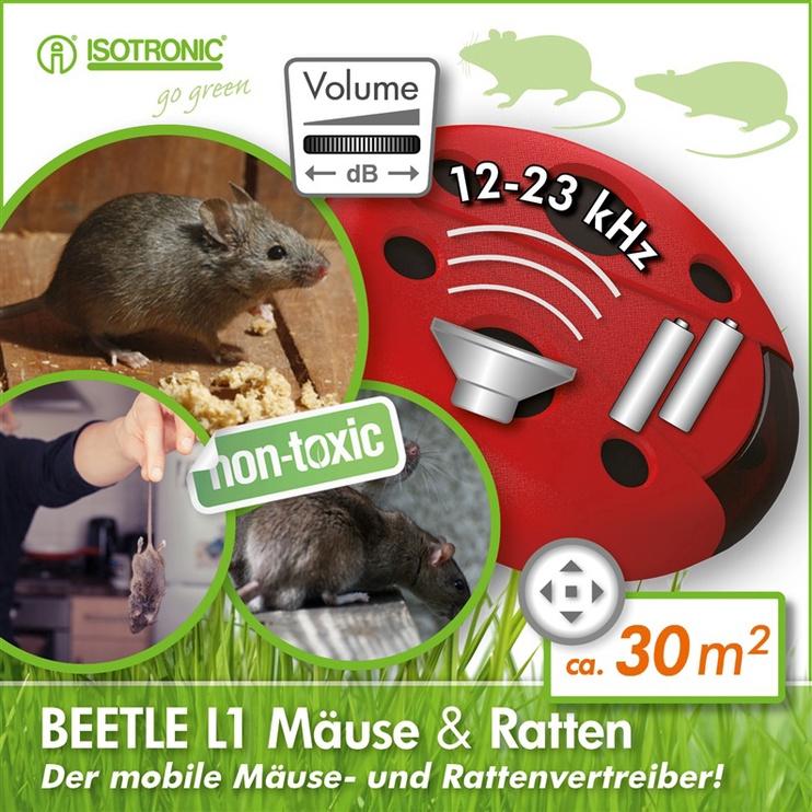 Elektrinė priemonė Isotronic, pelėms, žiurkėms ir kiaunėms atbaidyti, su baterija