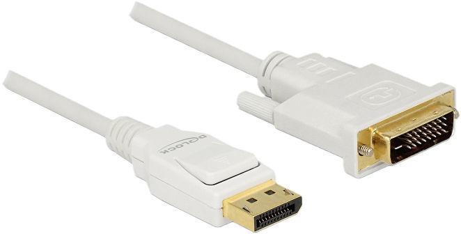 Delock Cable DisplayPort 1.2 Male to DVI 24+1 Male Passive 1m White