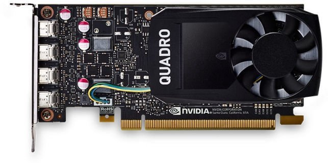 Vaizdo plokštė PNY Quadro P1000 VCQP1000DVIV2-PB 4 GB GDDR5