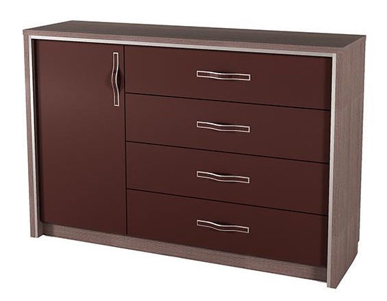 Silva Monika Chest Of Drawers 155x44x110cm Chocolate