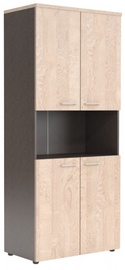 Skyland XTEN Office Cabinet XHC 85.4 Tiara Beech/Dark Wood