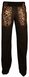 Bars Linen Trousers Black 163 XL
