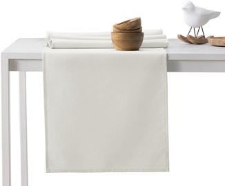 DecoKing Pure HMD Tablecloth Cream Set 115x180/35x180 2pcs