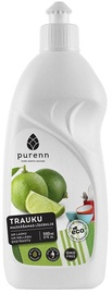 Purenn Dish Washing up Liquid with Lime and Bilberry Extract 500ml