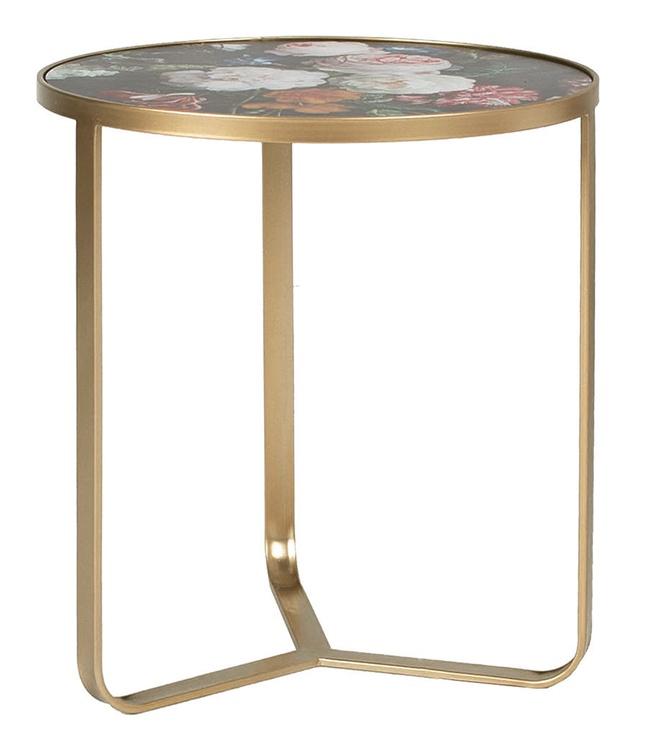 Kavos staliukas Home4you Porta Peonies, įvairių spalvų, 450x450x500 mm