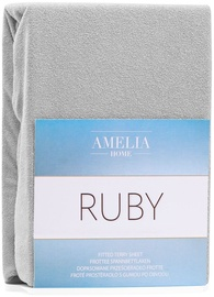 AmeliaHome Ruby Frote Bedsheet 200-220x200 Silver 60