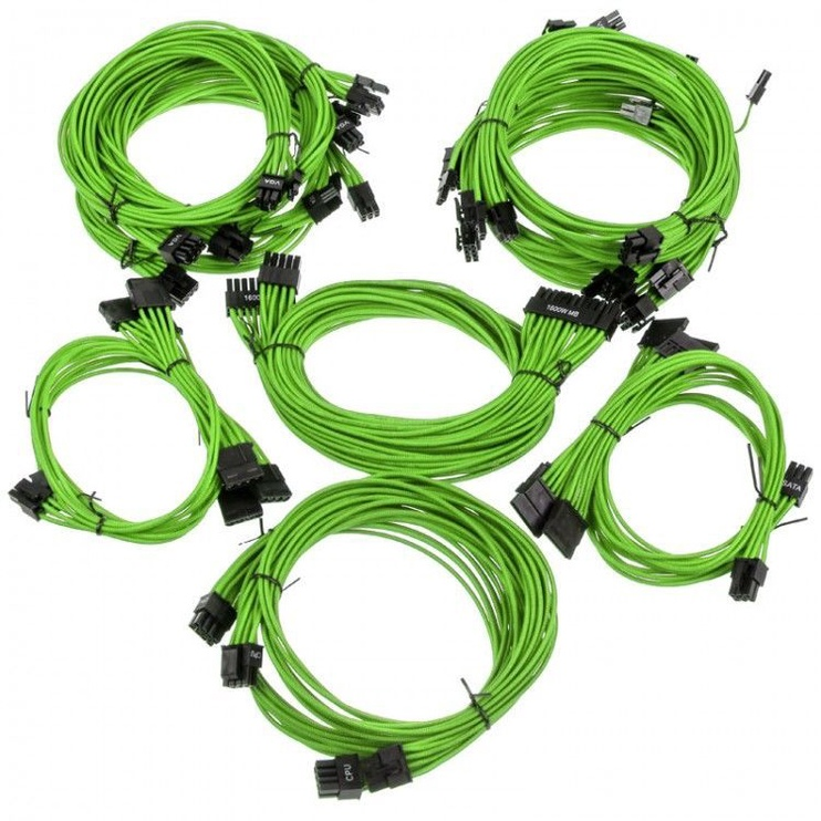 Super Flower Sleeve Cable Kit Pro Green