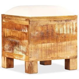Пуф VLX Solid Reclaimed Wood, коричневый, 40 см x 40 см x 45 см