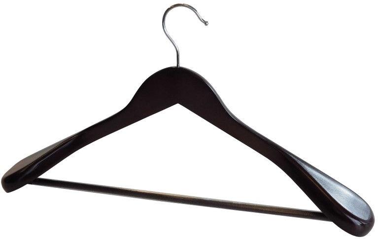 Asi Collection Hanger Wide Shoulders Wood Dark