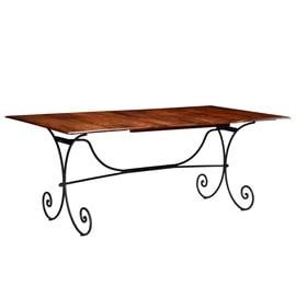 Pusdienu galds VLX Solid Acacia Wood 245643, brūna, 2000 mm x 1000 mm x 760 mm