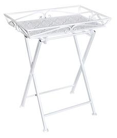 Home4you Tray Table Greta 60x40xH73cm White