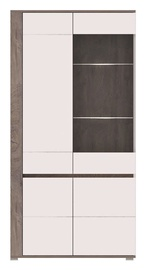 Vitrīna WIPMEB Ares AS10 Enderein Oak/White High Gloss, 100x40x196 cm