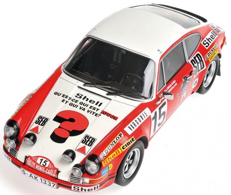 Minichamps Porsche 911 S Rally Monte Carlo 1972 White/Red