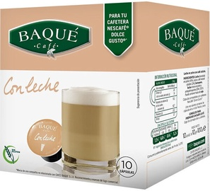 Cafe Baque Coffee With Milk kavos kapsulės, 10 vnt.