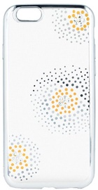 Beeyo Flower Dots Back Case For Apple iPhone 6 Plus/6s Plus Transparent/Silver