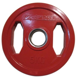 PX Sport Weight Disc Red Rubber 5kg