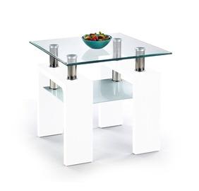 Kohvilaud Halmar Diana H Kwadrat Lacquered White, 600x600x550 mm