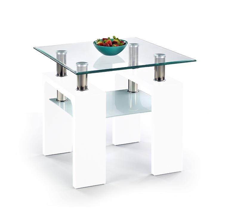 Kohvilaud Diana H Kwadrat, valge, 60 x 60 x 55 cm