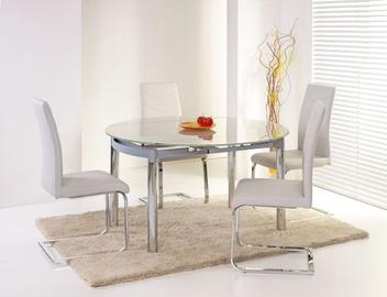 Pusdienu galds Halmar Nestor Glass/Grey, 800 - 1300x1300x750 mm