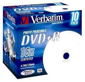 Verbatim DVD+R AZO 16X 4.7GB WIDE JC 1pcs