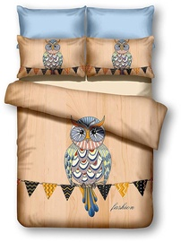 DecoKing Owls Autumn Story Bedding Set 200x220/80x80 2pcs
