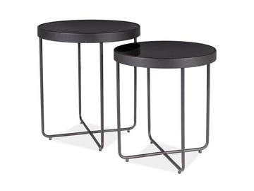 Kafijas galdiņš Signal Meble Atena Black, 450x450x500 mm