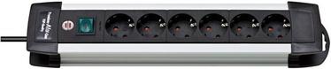 Brennenstuhl Premium-Alu-Line Extension Socket 6-way Silver/Black 3m