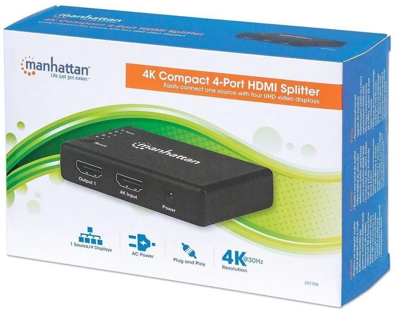 Manhattan 4-Port HDMI Splitter 207706