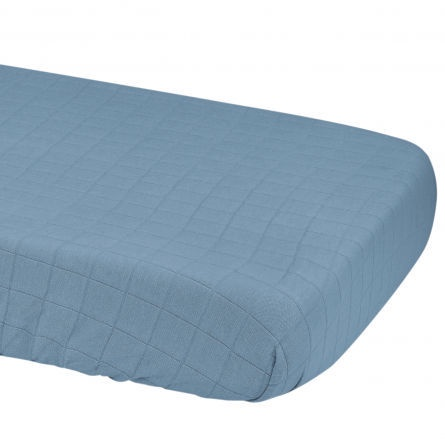 Lodger Slumber Solid Sheet With Rubber Ocean 70x140