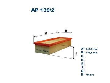 Automobilių oro filtras Filtron AP 139/2