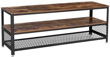 TV galds Songmics, brūna/melna, 1400x515x400 mm