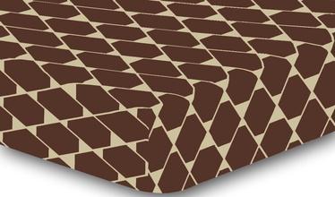Palags DecoKing Hypnosis, brūna/smilškrāsas, 90x200 cm, ar gumiju